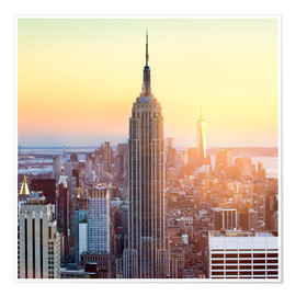 Póster  Empire State Building in New York City at sunset - Jan Christopher Becke