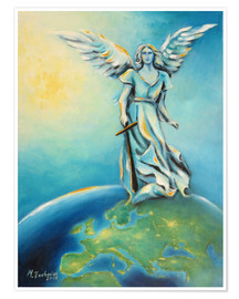 Marita Zacharias - Archangel Michael - Hand painted Angel Art