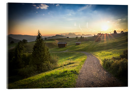 Metacrilato  Seiser Alm in the morning, South Tyrol - Frank Fischbach