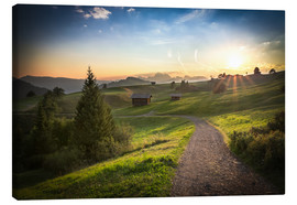 Lienzo  Seiser Alm in the morning, South Tyrol - Frank Fischbach