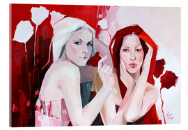 Cuadro de metacrilato  White and red - Anna Hammer