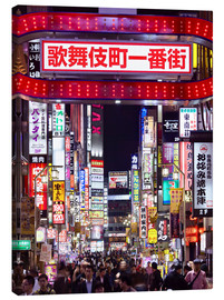 Lienzo  Colorful neon signs in Shinjuku district in Tokyo, Japan - Jan Christopher Becke