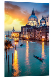Cuadro de metacrilato  Grand Canal with Santa Maria della Salute in Venice, Italy - Jan Christopher Becke