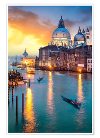 Póster  Grand Canal with Santa Maria della Salute in Venice, Italy - Jan Christopher Becke