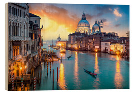 Madera  Grand Canal at sunset in Venice, Italy - Jan Christopher Becke