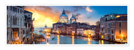 Póster  Canal Grande panorama in Venice, Italy - Jan Christopher Becke