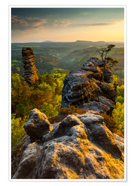 Póster  Saxon Switzerland - Sunset - Mikolaj Gospodarek