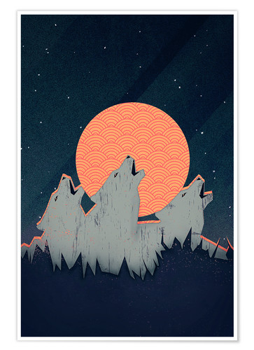 Póster Howling Moon