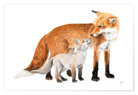 Póster foxes