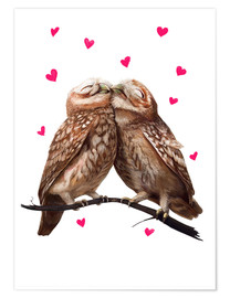 Póster  Lovely owls - Valeriya Korenkova