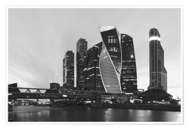Póster Business center Moscow