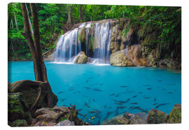Lienzo  Erawan waterfall