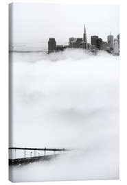 Lienzo  San Francisco disappeared in the fog