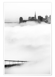 Póster  San Francisco disappeared in the fog