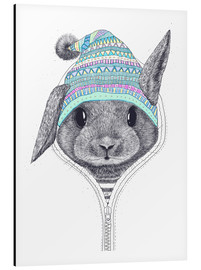 Aluminio-Dibond  The rabbit in a hood - Valeriya Korenkova