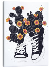 Lienzo  Sneakers with cactus - Valeriya Korenkova