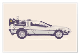 Póster  Delorean - Florent Bodart
