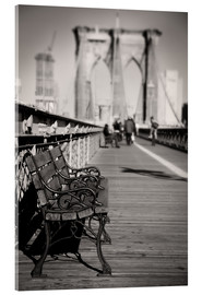 Cuadro de metacrilato  Bench on Brooklyn Bridge - Denis Feiner