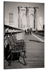 Cuadro de aluminio  Bench on Brooklyn Bridge - Denis Feiner