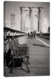 Lienzo  Bench on Brooklyn Bridge - Denis Feiner