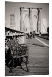 Cuadro de PVC  Bench on Brooklyn Bridge - Denis Feiner