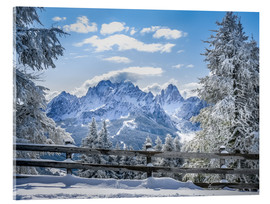 Cuadro de metacrilato  Winter in the Sesto Dolomites, South tyrol, Italy - Christian Müringer