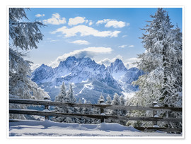 Póster  Winter in the Sesto Dolomites, South tyrol, Italy - Christian Müringer