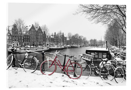 Metacrilato  Red bicycle in the snow - George Pachantouris
