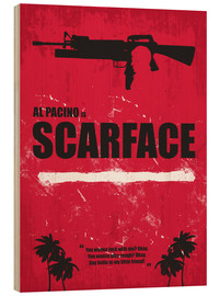 Cuadro de madera  Scarface - Minimal Alternative Movie Fanart - HDMI2K