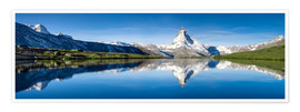 Póster  Stellisee and Matterhorn near Zermatt in the Swiss Alps - Jan Christopher Becke