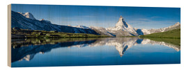 Cuadro de madera  Stellisee and Matterhorn near Zermatt in the Swiss Alps - Jan Christopher Becke
