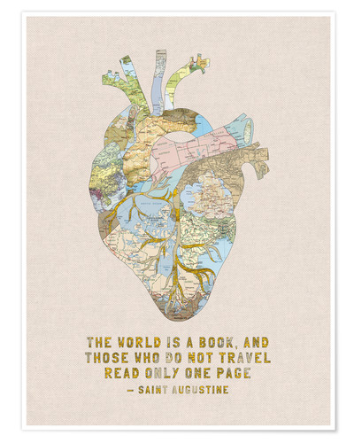 Póster A Travelers Heart + Quote