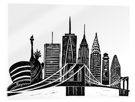 Cuadro de metacrilato  LINOCUT NEW YORK - Bianca Green
