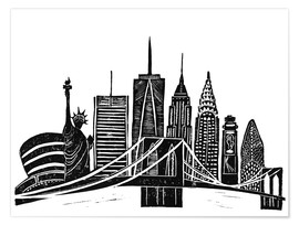 Póster  LINOCUT NEW YORK - Bianca Green