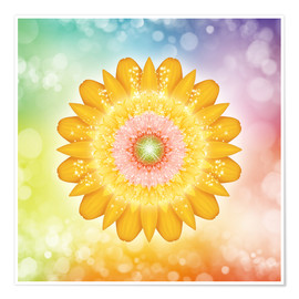 Póster  Mandala - I AM Love and Light - Dolphins DreamDesign