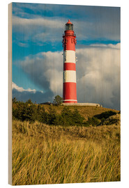 Cuadro de madera  Lighthouse on the island Amrum, Germany - Rico Ködder