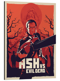 Aluminio-Dibond  Ash Vs the evil dead - Fourteenlab