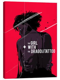 Lienzo  The Girl with The Dragon Tattoo - Fourteenlab