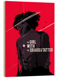 Cuadro de madera  The Girl with The Dragon Tattoo - Fourteenlab