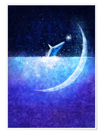 Póster Blue whale and crescent