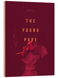 Cuadro de madera  Young Pope - Fourteenlab