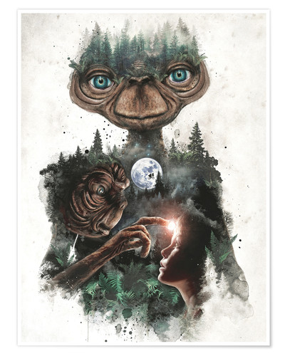 Póster E.T. the extra terrestrial