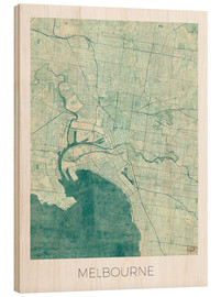 Hubert Roguski - Melbourne Map Blue