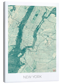 Lienzo  New York Map Blue - Hubert Roguski