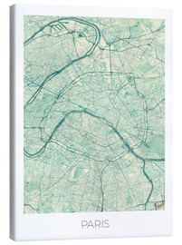 Hubert Roguski - Paris Map Blue