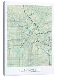 Lienzo  Los Angeles Map Blue - Hubert Roguski