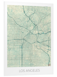 Cuadro de PVC  Los Angeles Map Blue - Hubert Roguski