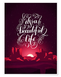 Póster  It's a beautiful life - dear dear