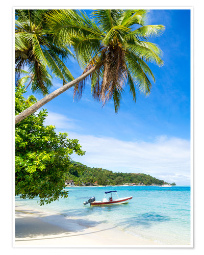 Póster Beach vacation on a remote island in the tropics