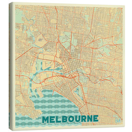 Lienzo  Melbourne Map Retro - Hubert Roguski